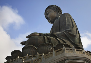 Tian Tan (Big) Buddha. Lantau Island. Hong Kong. China