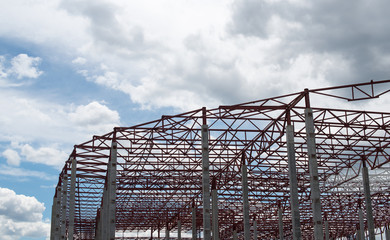 Construction site. Framework of the new building