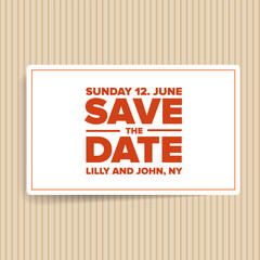 save the date template vector