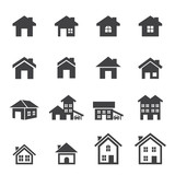 house icon set poster