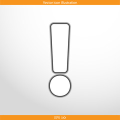 Vector exclamation web flat icon