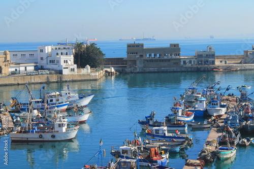 Tuinposter Algerije Port de péche d'Alger, Algérie