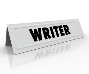 Writer Tent Card Name Guest Speaker Author Reporter Blogger Jour