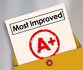 Most Improved Report Card Grade Score Increase Better Results