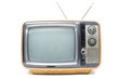 Vintage TV on  white background - 75616419