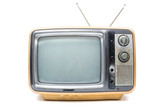 Vintage TV on  white background - 75616419