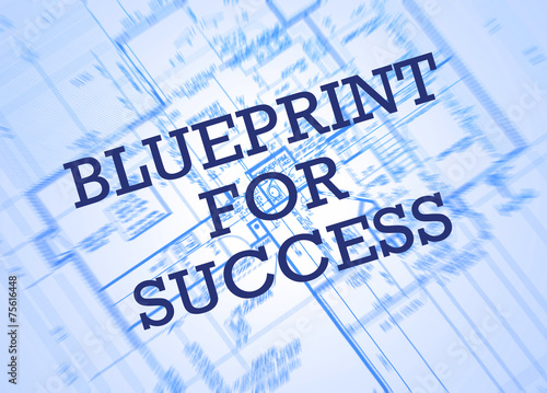 Leinwandbild Motiv Blueprint for success