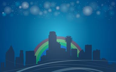 Dallas city background