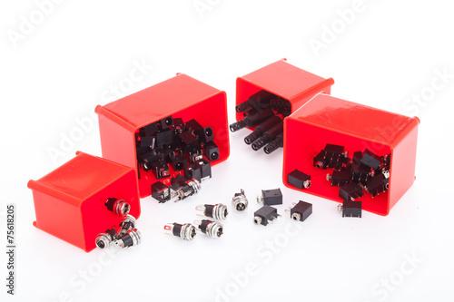 Leinwanddruck Bild Electronic component jack