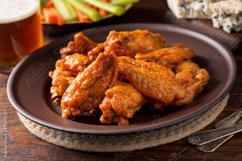 Keuken foto achterwand Voorgerecht Buffalo Chicken Wings