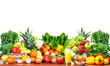 Fruits and vegetables isolated white background