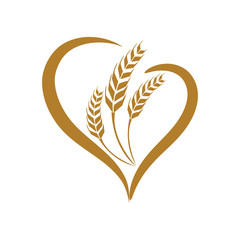 wheat vecter
