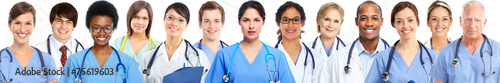 Leinwandbild Motiv Group of medical doctors
