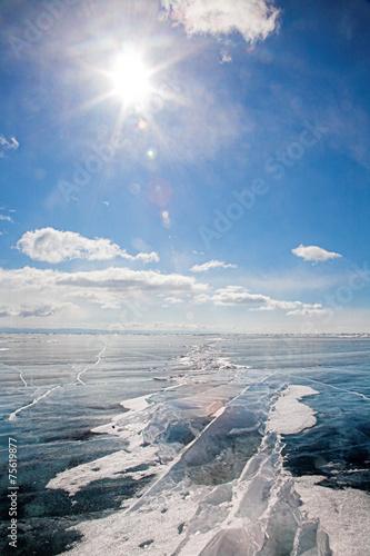 Leinwanddruck Bild winter baikal