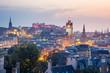 Edinburgh city from Calton Hill at night, Scotland, UK - 75620038