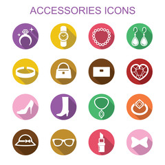 accessories long shadow icons