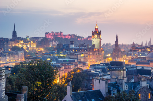 Foto op Aluminium Vestingwerk Edinburgh city from Calton Hill at night, Scotland, UK