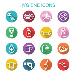 hygiene long shadow icons