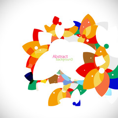 abstract colorful floral shape concept background