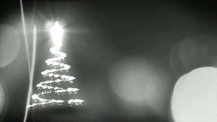 Christmas tree animation with black background