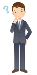 スーツを着た男性 就活 疑問