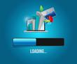 business information loading. illustration design