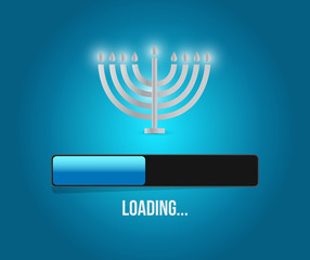 hanukkah loading concept illustration