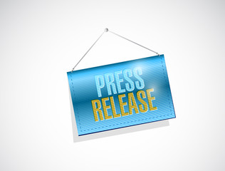 press release hanging banner illustration