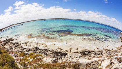 Fisheye view of Vivonne Bay in South Australia