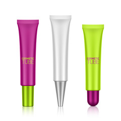 Cosmetic tube with screw caps template