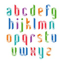 Colorful ribbon alphabet