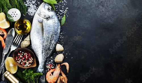 Delicious fresh fish - 75623835