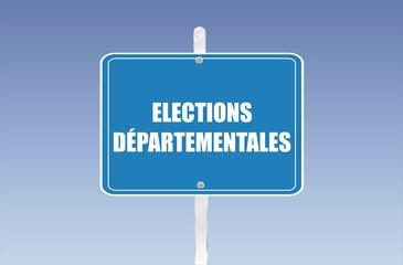 panneau élections départementales
