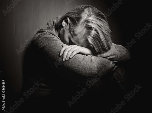 Sad woman. - 75624889