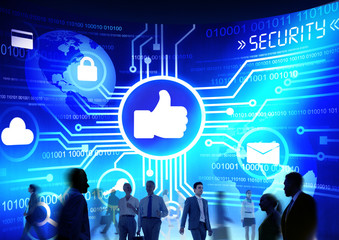 Business People Commuter Technology Security Like Media Concept
