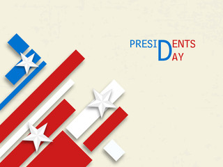 American Presidents Day celebration concept.