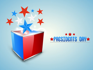 Presidents Day celebration with American Flag color stars.