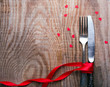 Valentine's day table setting - 75626232