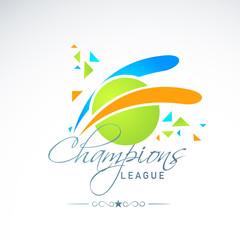 Creative green ball for Cricket Champions League.