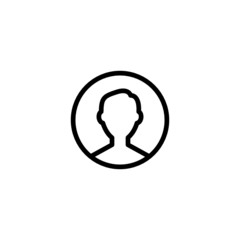 Male Trendy Thin Line Icon