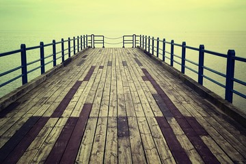 Mysterious wooden pier.