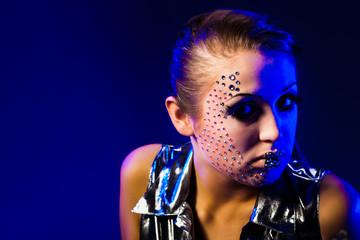 Beauty Fashion Glamour Girl Portrait.