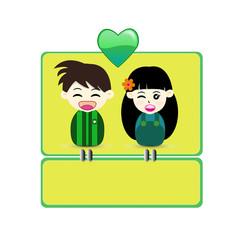 Valentine Card. - Illustration