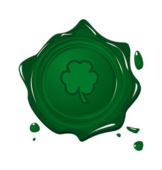 Stamp with clover for Saint Patrick day