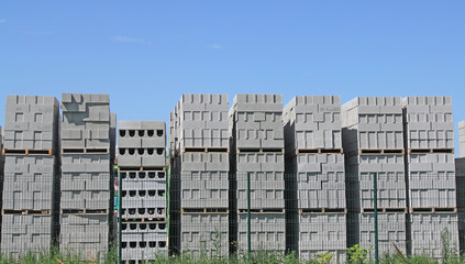 Palettes de briques