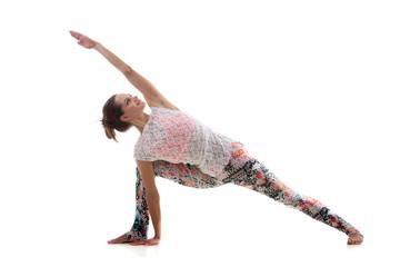 Yoga Pose uthitta parshvakonasana