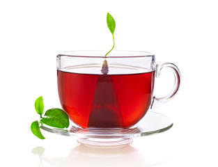 Cup of tea with teabag © goir