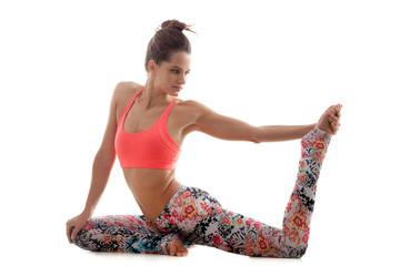 Preparation for yoga pose eka pada Rajakapotasana