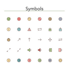 Symbols Colored Line Icons