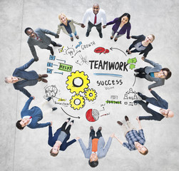 Teamwork Team Together Collaboration Business People Concept